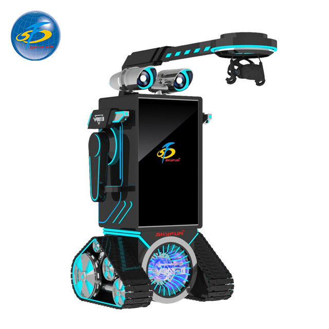 Robot Type Automatic VR Game Machine With 50'' Touch Screen Console Display