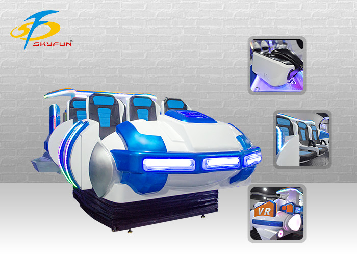 6 DOF Motion Ride 6 Seats 9D Virtual Reality Cinema Simulator With 79 Pieces Movies